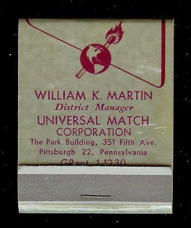 UNIVERSAL MATCH Full Unstruck Matchbook
