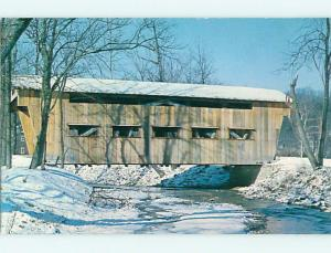 Unused Pre-1980 COVERED BRIDGE IN MUD-LICK Near Dayton Ohio OH t7984
