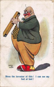 Fatman Dudley Buxton comic signed Postcard