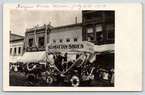 Fergus Falls Minnesota~4th July Parade~Main Street~Firework Sale~Store~1907 RPPC