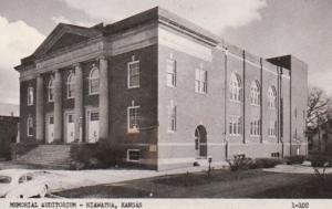 Kansas Hiawatha Memorial Auditorium Real Photo