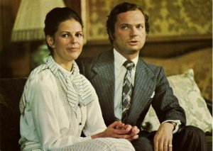 sweden, King Carl XVI Gustaf and Queen Silvia (1976) Postcard (2)