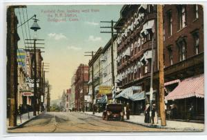 Fairfield Avenue Bridgeport Connecticut 1911 Republican Advertising postcard