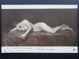 Glamour Sensual Beauty DECEPTION c1912 Postcard by A. Noyer of Salon de Paris