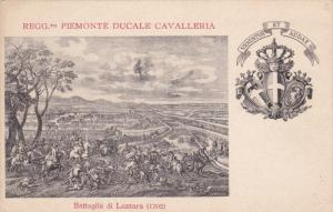 Patriotic Military Unit postcard , Italy , 1900-10s ; Regg. Piemonte Ducale C...