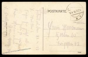 Germany 1918 WWI Turkey Tiberias Inf Regt 701 FPN511 Feldpost Cover 90402