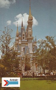 ORLANDO, Florida, 40-60s; Amtrak, Cinderella's Castle, WALT DISNEY WORLD