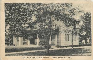 New Harmony Indiana~Minerva Women's Club: Fauntleroy House~blt1815 Postcard 1914