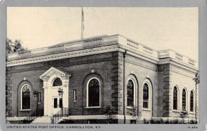 Carrollton Kentucky Post Office Street View Antique Postcard K80876