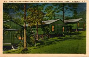 North Carolina Ridgecrest Night Time Scene Showing Bird Huts At Ridgecrest Ba...