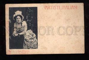 021580 Tina Di LORENZO Italian OPERA Star Old Photo RARE