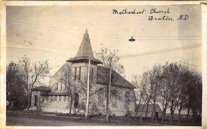 Drayton ND Methodist Church HOME_MADE Real Photo Postcard