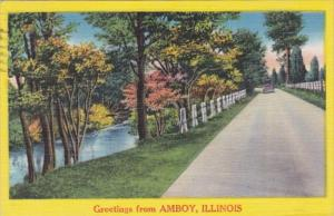 Illinois Greetings From Amboy 1962