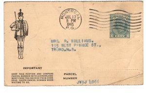 Imperial Tobacco, Sweet Caps Order, Postal Stationery Postcard, Used 1943