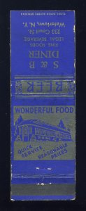 Watertown, New York/NY Matchcover, S & B Diner