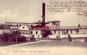 pre-1907 STEAMER OTETIANI AT THE DOCK, WATKINS, N.Y. 1906