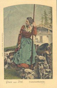 pc9416 postcard Gruss aus Tirol not postally used MOBSXC