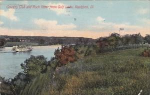 ROCKFORD, Illinois, PU-1911; Country Club And Rock River From Golf Links