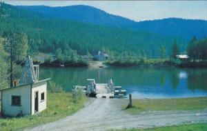 Ferry , North Thompson River , LITTLE FORT , B.C. , Canada ,1950-60s