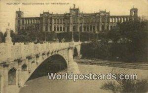 Maximiliansbrucke mit Maximilianeum Munchen Germany 1910