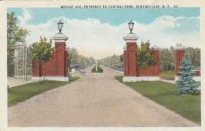 SCHENECTADY , New York , 00-10s; Wright Ave. Entrance to Central Park