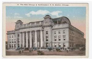 Chicago Northwestern Train Depot Chicago #2 postcard