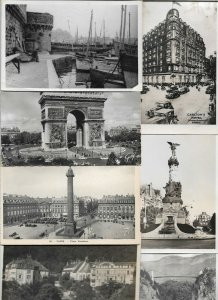 France Concarneau, Paris, Reims and more Postcard Lot of 30 with RPPC 01.05