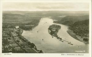 Germany, Am Rhein, Blick v, Drachenfels ins Rheintal unus...