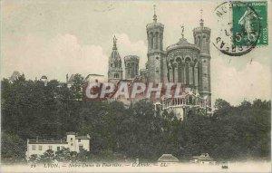 Old Postcard Lyon Notre Dame de Fourviere The Apse