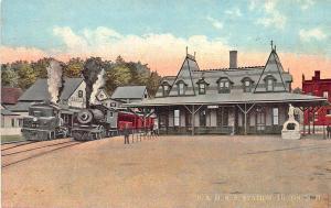 Tilton NH B & M Railroad Station Train Depot Postcard