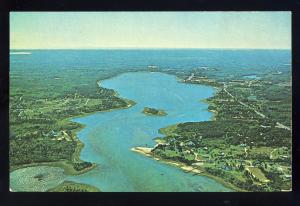 Orleans, Massachusetts/MA Postcard, Aerial View, Town Cove To Orleans, Cape Cod