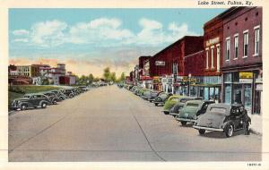 Fulton Kentucky Lake Street Scene Historic Bldgs Antique Postcard K46937