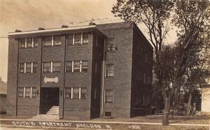 Sheldon IA Smith's Apartment House~I Marked Window RPPC c1914 Caldwell OH Okey