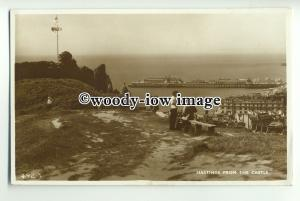 tp9236 - Sussex - Hastings & Pier, taken from Benches at the Castle - Postcard