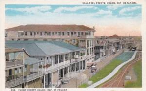 Panama Colon View Of Front Street