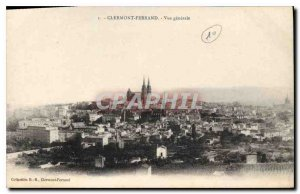 Old Postcard Clermont Ferrand General view