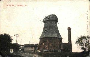 Peotone IL The Old Mill c1910 Postcard
