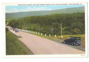 Lincoln Highway Rt 30 New Cement Stretch Cars Bedford PA