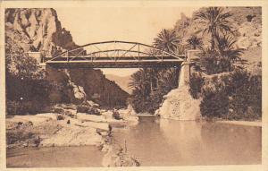 Algeria El Kantara Passerelle sur l'Oued