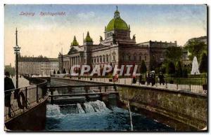Old Postcard Leipzig Reichgericht