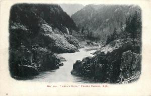 Hell `s Gate Fraser Canyon B.C. postcard