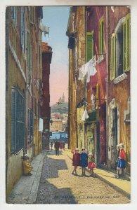 P2191 vintage postcard marseille une vieille rus-cap france