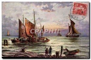 Postcard Old Ship Ship