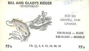 Fishing Postcard Bill and Gladys Rieger Sportsman Writing on Back