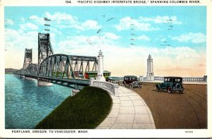Washington Vancouver Paccific Highway Interstate Spanning Columbia River 1930...