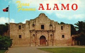San Antonio, Texas, TX, The Alamo, Unused Chrome Vintage Postcard g9070