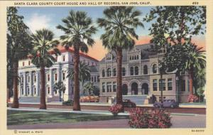 Santa Clara County Court House and Hall of Records, San Jose, California, 193...