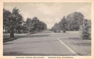 Bakersfield California birds eye view Truxton Avenue Blvd antique pc ZA440664