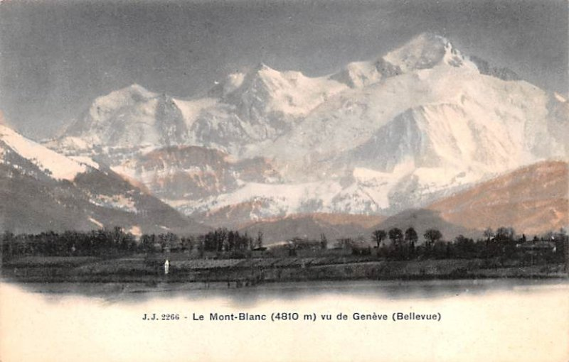 Le Mont Blanc Switzerland Unused