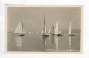 RP: Sailboats in Harbor / Segelsport auf dem Zurich,Switzerland 1920-30s